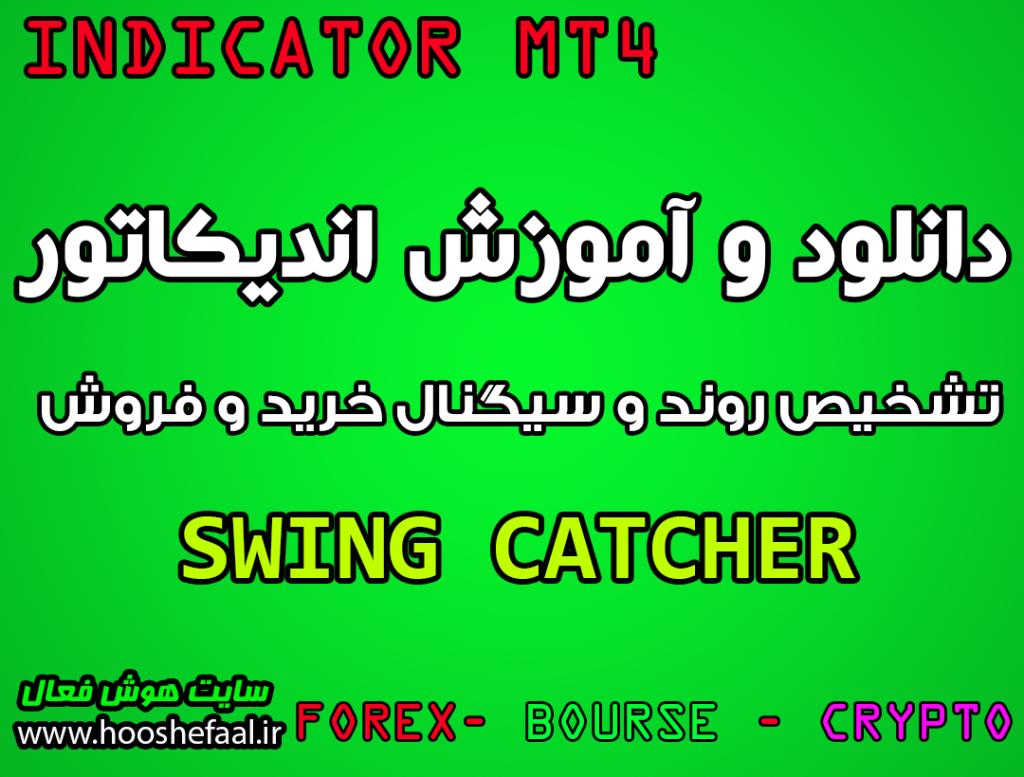 دانلود اندیکاتور Swing catcher برای تشخیص روند و سیگنال گیری مخصوص فارکس و متاتریدر چهار MT4