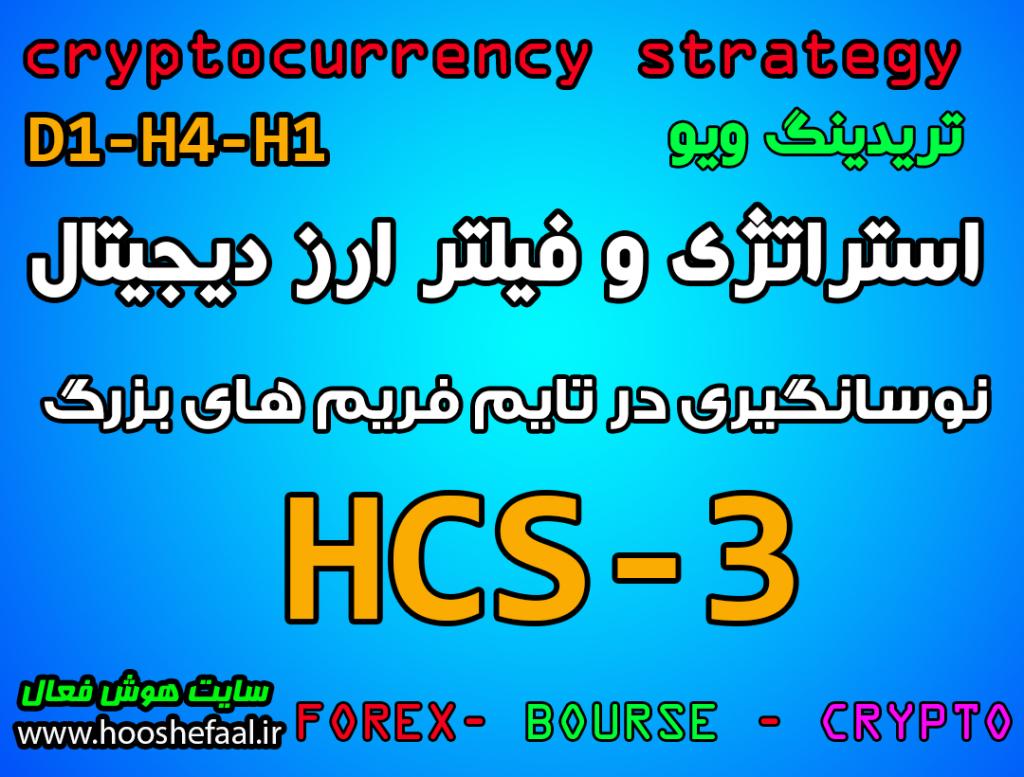 استراتژی معاملاتی کاربردی به همراه فیلتر  در ارزدیجیتال و فارکس  در سایت تریدینگ ویو HCS-3