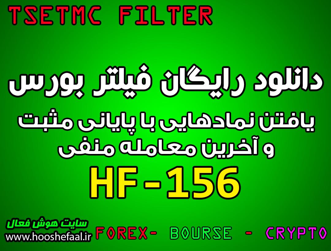 دانلود رایگان فیلتر نوسان گیری با قیمت پایانی HF-156 مخصوص بازار بورس تهران